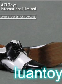 ACI ACI-745 DRESS SHOES 精緻皮鞋(BLACK TOE CAP 黑白相間色)
