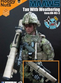 HOBBY NUTS HN-M3-3 M3 CARL G RECOILLESS RIFLE(MAAWS) 無後坐力炮配件組(黃褐色風化版Ver.)-03