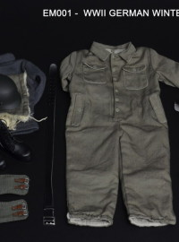 EMTOYS EM001 WWII GERMAN WINTER OVERALLS SET 二戰德軍冬季連服服裝配件組