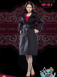 POPTOYS POP-F18-B THE BRITISH WOMEN'S WINDBREAKER SUIT 英倫風服裝配件組(B款-黑色)-02