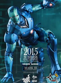 HOT TOYS MARVEL IRON MAN 鋼鐵人 - MARK III、MARK 3、馬克3(DIECAST STEALTH MODE 匿蹤合金版Ver.)(限定版)-11