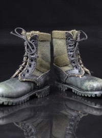PLAY TOY PC005-A COMBAT BOOTS 軍綠色戰鬥靴配件組-01