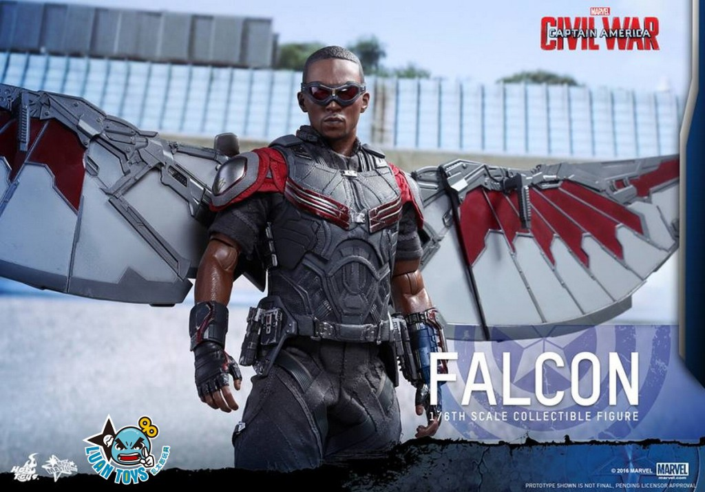 HOT TOYS MARVEL CAPTAIN AMERICA CIVIL WAR 美國隊長 英雄內戰 - FALCON 獵鷹、SAM WILSON 山姆威爾森(ANTHONY MACKIE 安東尼麥基飾演)-01