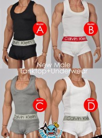 MC TOYS F-058 NEW MALE TANKTOP & UNDERWEAR 男性貼身背心 & 內褲配件組-01