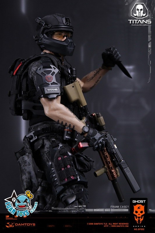 DAMTOYS SF002 GHOST SERIE 幽靈系列 - TITANS PMC(PRIVATE MILITARY CONTRACTOR) 泰坦職業傭兵部隊 - FRANK CASEY 法蘭克凱西-13
