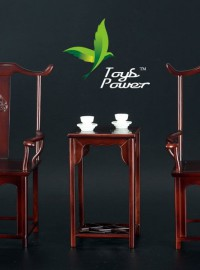 TOYS POWER ANNEX002 CHINESE TEA TABLE 中國風復古桌椅配件組