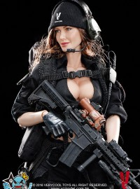 VERYCOOL VCF-2029 FEMALE SHOOTER BLACK Ver. 黑色女槍手-03