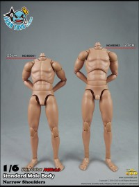 COOMODEL BD001、BD002 NARROW SHOULDERS STANDARD MALE BODY 窄肩素體配件組(NEW 2.0 新2.0版)-01