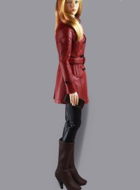 TOY CENTER CEN-G-0001-C CLASSIC WOMEN'S LEATHER SUIT 經典皮衣套裝配件組(C款紅色)-01