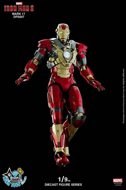 KING ARTS DFS007 MARVEL IRON MAN 3 鋼鐵人 3 – HEARTBREAKER 破心者、MARK XVII、MARK 17、馬克17-01