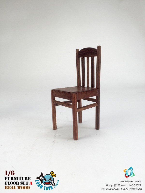TITTOYS SF022 REAL WOOD FURNITURE & FLOOR SET A 實木桌椅 & 地板配件組(A款)-03