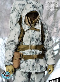 SUPERMCTOYS M-063 USMC、US MARINE CORPS SNOW MARPAT CAMO SETS 美國海軍陸戰隊雪地迷彩服裝配件組-01
