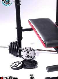 POPTOYS POP-EY03 GYM EQUIPMENT DUMBBELL & DUMBBELL BENCH SET 健身器材 啞鈴 & 啞鈴健身臥推架配件組-01
