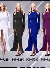 POPTOYS POP-F28 NIKTA BARE-SHOULDERED EVENING DRESS SUIT 露肩長裙晚禮服配件組-01