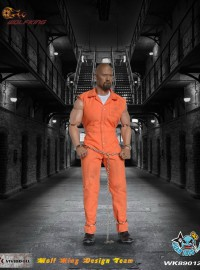 WOLFKING WK89012B DWAYNE JOHNSON & PRISONER CLOTHING SET 巨石強森頭雕 & 囚犯服裝配件組-01