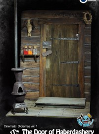 ASMUS TOYS DOH001 THE DOOR OF HARBERDASHERY 驛站木屋大門-01