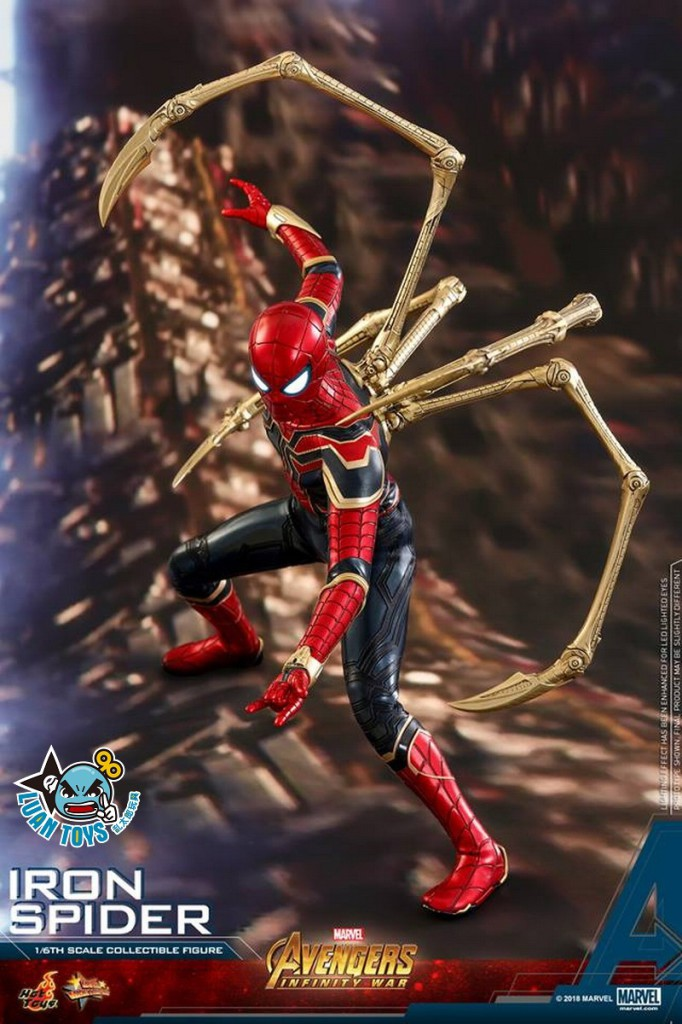 HOT TOYS MARVEL AVENGERS INFINITY WAR 復仇者聯盟 3 無限之戰 – IRON SPIDER 鋼鐵蜘蛛人、PETER PARKER 彼得帕克(TOM HOLLAN 湯姆霍蘭德飾演)-08