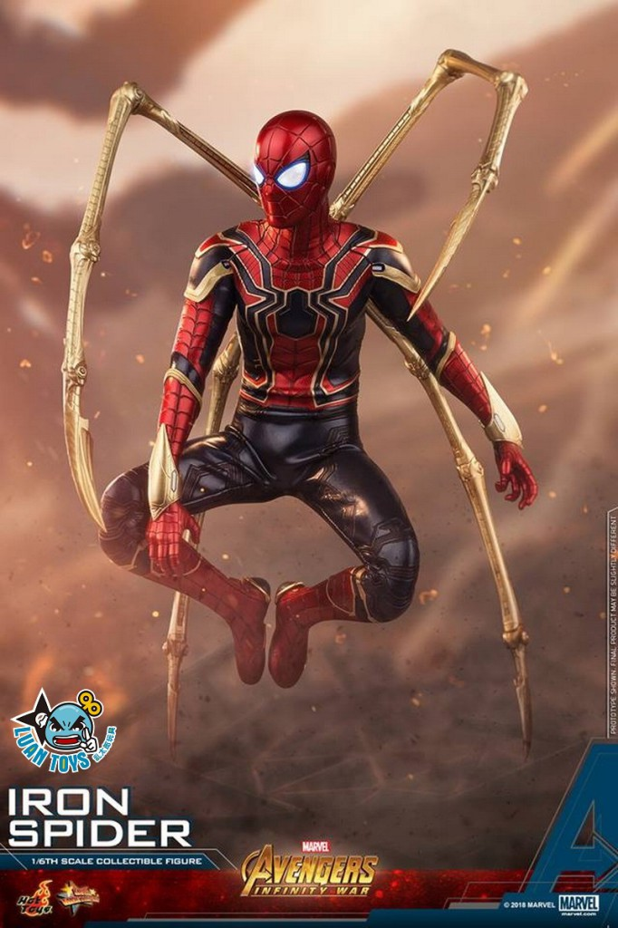 HOT TOYS MARVEL AVENGERS INFINITY WAR 復仇者聯盟 3 無限之戰 – IRON SPIDER 鋼鐵蜘蛛人、PETER PARKER 彼得帕克(TOM HOLLAN 湯姆霍蘭德飾演)-11