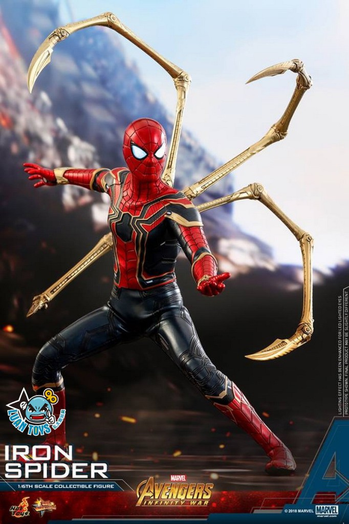 HOT TOYS MARVEL AVENGERS INFINITY WAR 復仇者聯盟 3 無限之戰 – IRON SPIDER 鋼鐵蜘蛛人、PETER PARKER 彼得帕克(TOM HOLLAN 湯姆霍蘭德飾演)-12
