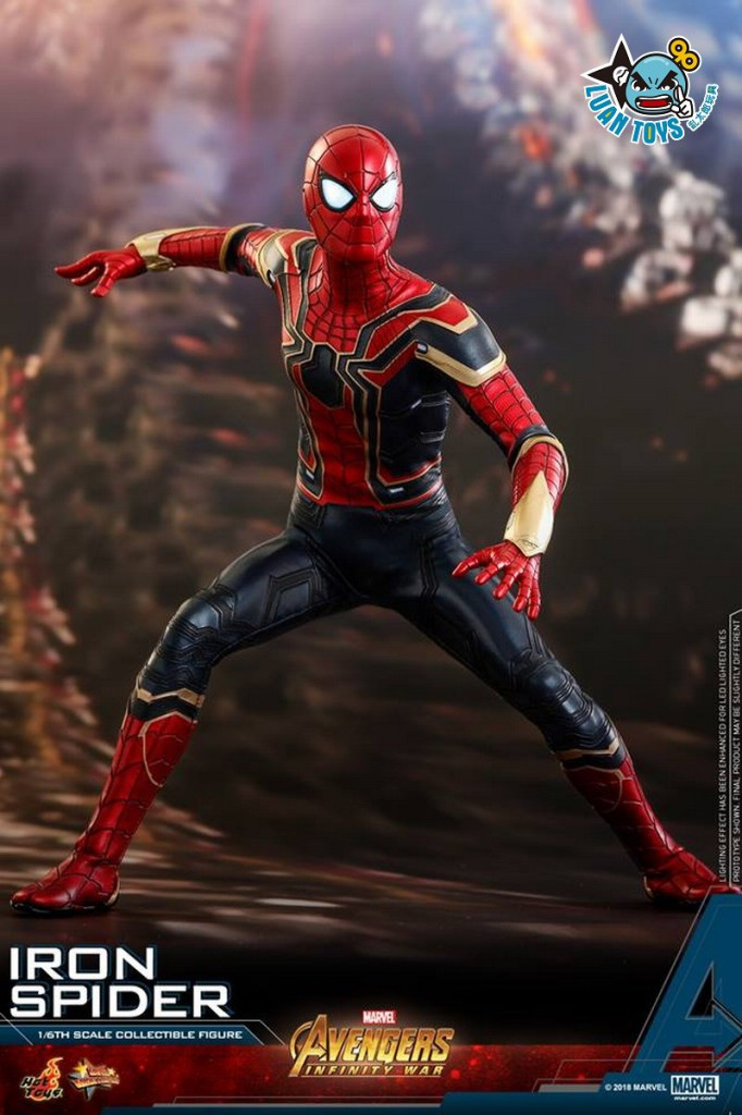 HOT TOYS MARVEL AVENGERS INFINITY WAR 復仇者聯盟 3 無限之戰 – IRON SPIDER 鋼鐵蜘蛛人、PETER PARKER 彼得帕克(TOM HOLLAN 湯姆霍蘭德飾演)-17