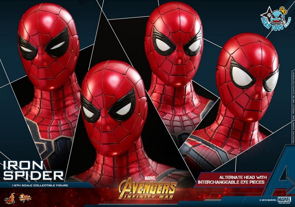 HOT TOYS MARVEL AVENGERS INFINITY WAR 復仇者聯盟 3 無限之戰 – IRON SPIDER 鋼鐵蜘蛛人、PETER PARKER 彼得帕克(TOM HOLLAN 湯姆霍蘭德飾演)-24