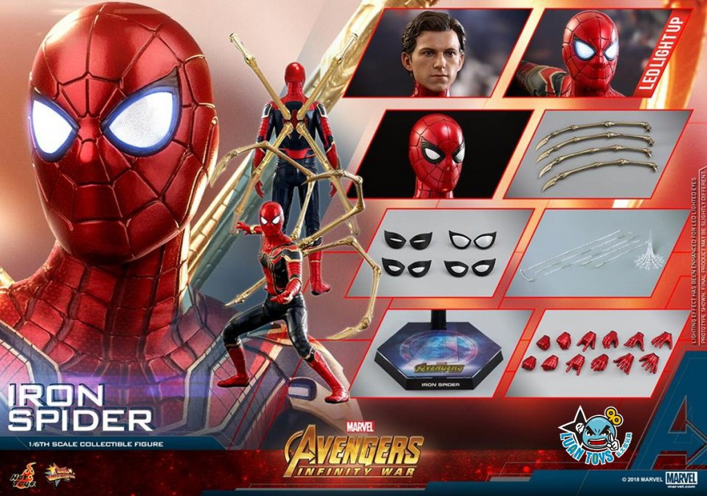 HOT TOYS MARVEL AVENGERS INFINITY WAR 復仇者聯盟 3 無限之戰 – IRON SPIDER 鋼鐵蜘蛛人、PETER PARKER 彼得帕克(TOM HOLLAN 湯姆霍蘭德飾演)-25