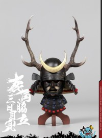 COOMODEL SE033 JAPAN'S WARRING STATES 日本戰國系列 - BLACK BUCKHORN MOON KABUTO 鹿角脅力三日月兜(HELMET EDITION 兜鍪版)-01