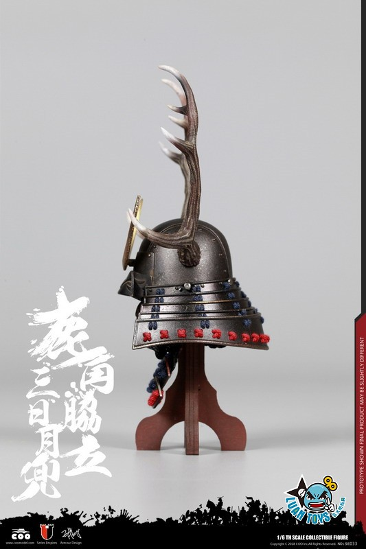 COOMODEL SE033 JAPAN'S WARRING STATES 日本戰國系列 - BLACK BUCKHORN MOON KABUTO 鹿角脅力三日月兜(HELMET EDITION 兜鍪版)-02