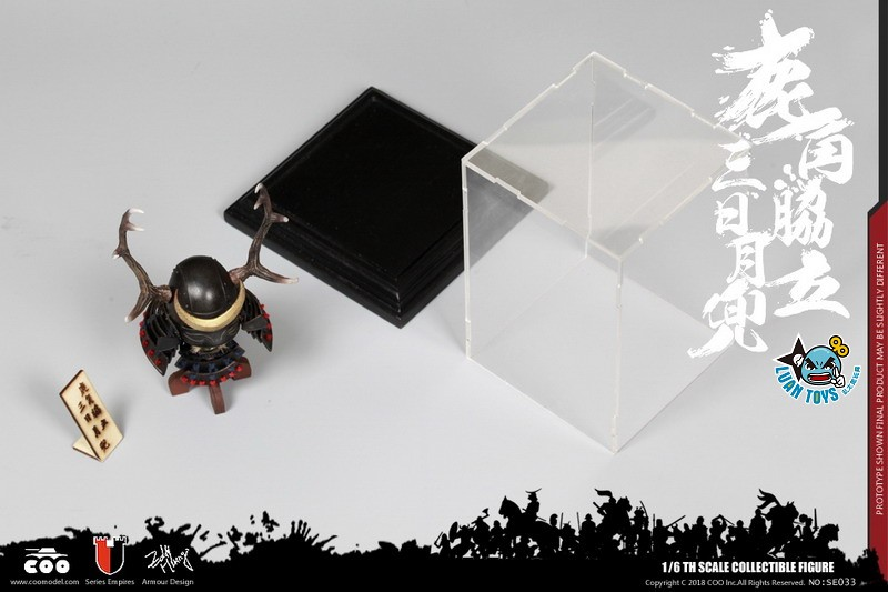 COOMODEL SE033 JAPAN'S WARRING STATES 日本戰國系列 - BLACK BUCKHORN MOON KABUTO 鹿角脅力三日月兜(HELMET EDITION 兜鍪版)-06