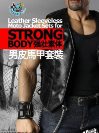 SUPERMCTOYS F-073 LEATHER SLEEVELESS MOTO JACKET SETS 男性皮馬甲服裝配件組(FOR STRONGBODY 強壯素體適用)-01