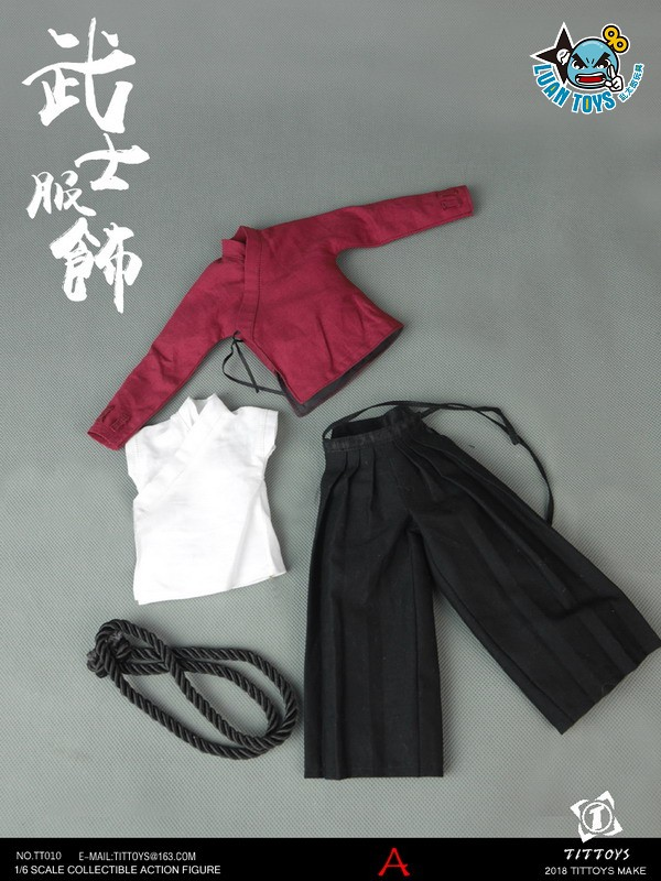 TITTOYS TT010 COSTUMES OF THE JAPANESE WARRING STATES WARRIORS 日本戰國武士服裝配件組(A款)-01