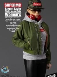 SUPERMCTOYS F-076 STREET STYLE FLIGHT JACKET SETS WOMEN'S 街頭風格飛行夾克服裝配件組(女生版)-01