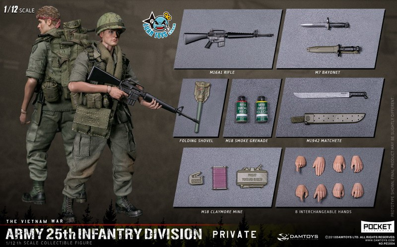 DAMTOYS PES004 US ARMY 25th INFANTRY DIVISION 越戰美國陸軍第25步兵師-18