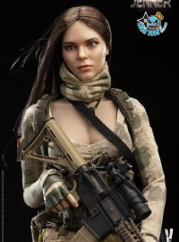 VERYCOOL VCF-2037A A-TACS FG DOUBLE WOMEN SOLDIER 廢墟迷彩女兵 - JENNER(A款)-01