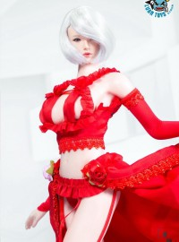 MANMODEL MM18-B TWO-DIMENSIONAL SEXY FLOWER WEDDING SUIT 二次元性感婚紗配件組(紅色)-01