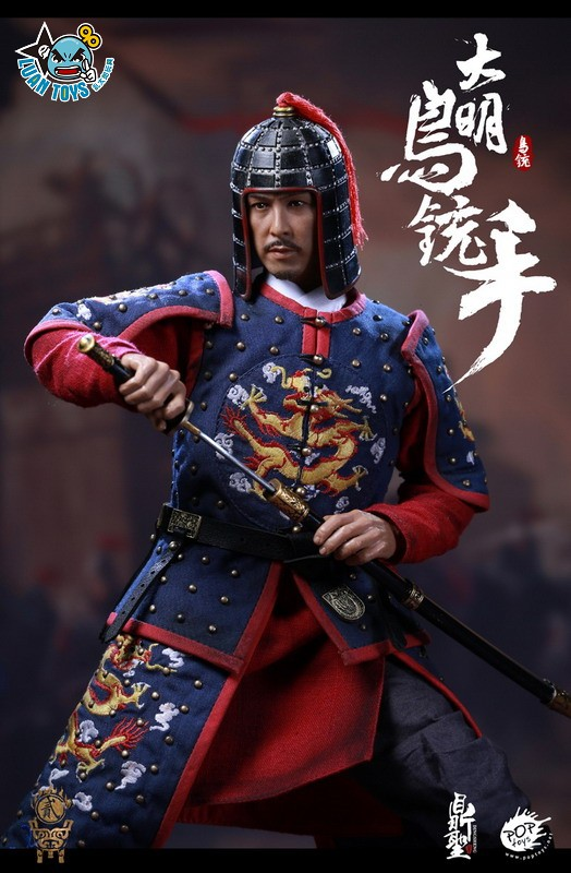 鼎聖模玩 & POPTOYS DS002 MING DYNASTY 大明王朝 - MUSKETEER 鳥銃手(A款藍色)-04