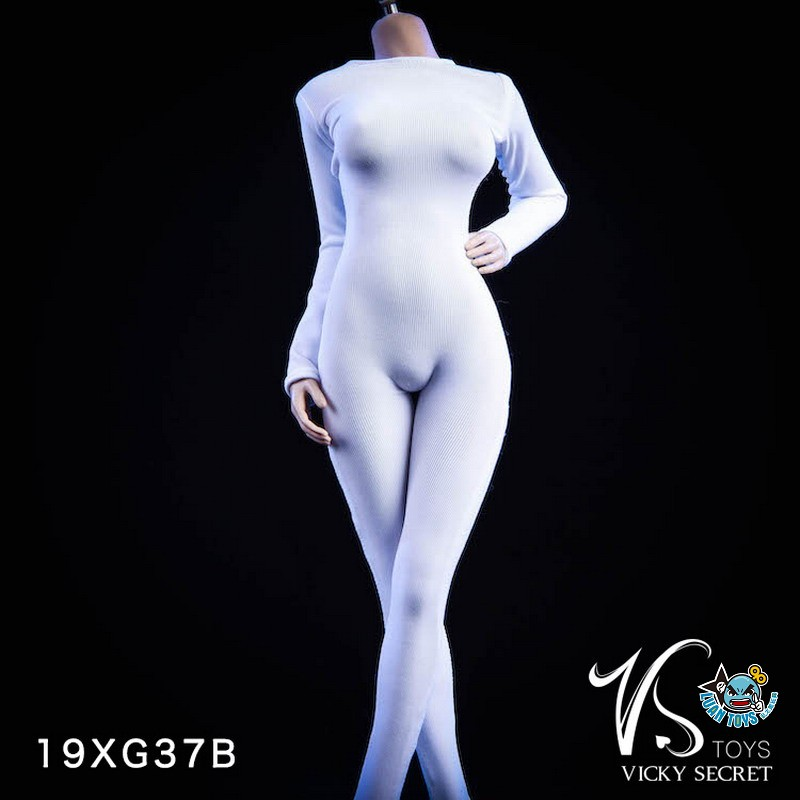 VSTOYS 19XG37B LONG SLEEVED BODYSUIT 長袖連身緊身衣(B款白色)-01