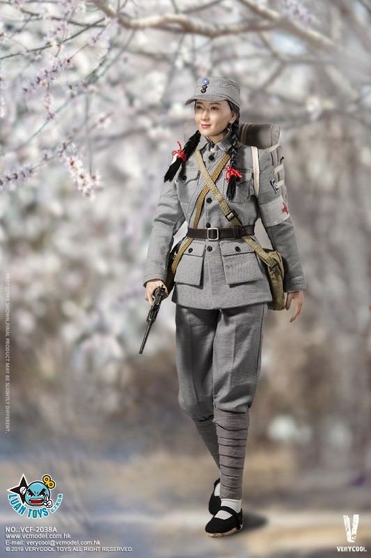 VERYCOOL VCF-2038A WWII MILITARY UNIFORM EIGHT ROUTE ARMY MEDICAL SOLDIER 二戰國軍八路軍醫務兵-06