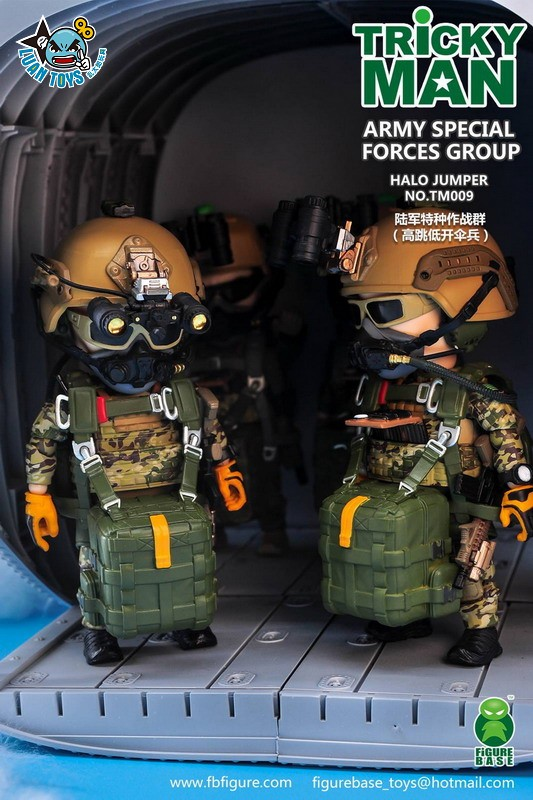 FIGURE BASE TM009 US ARMY SPECIAL FORCES GROUP HALO JUMPER 美國軍特種作戰群傘兵-01