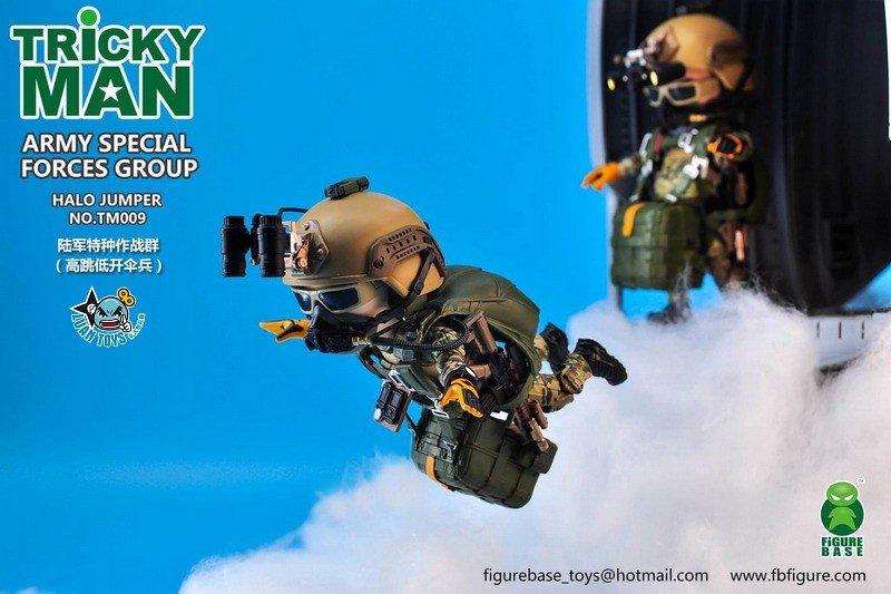 FIGURE BASE TM009 US ARMY SPECIAL FORCES GROUP HALO JUMPER 美國軍特種作戰群傘兵-02