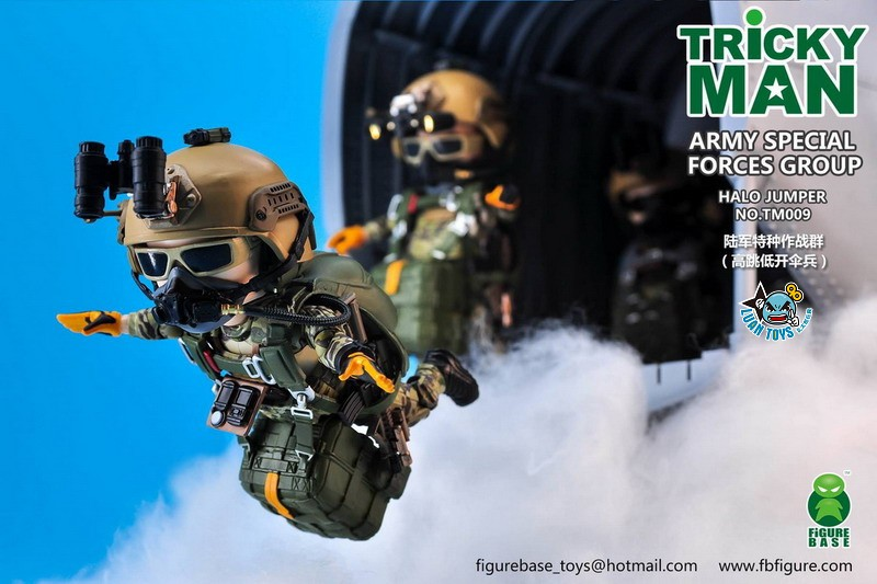 FIGURE BASE TM009 US ARMY SPECIAL FORCES GROUP HALO JUMPER 美國軍特種作戰群傘兵-04