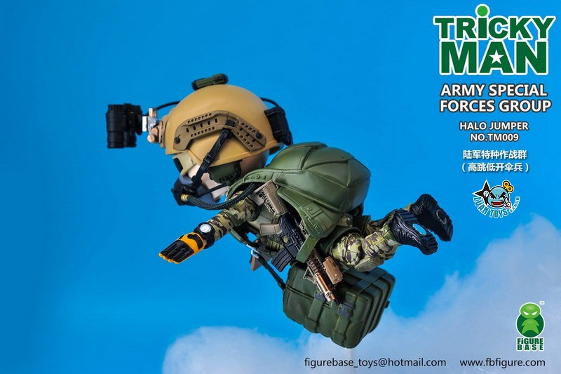 FIGURE BASE TM009 US ARMY SPECIAL FORCES GROUP HALO JUMPER 美國軍特種作戰群傘兵-07