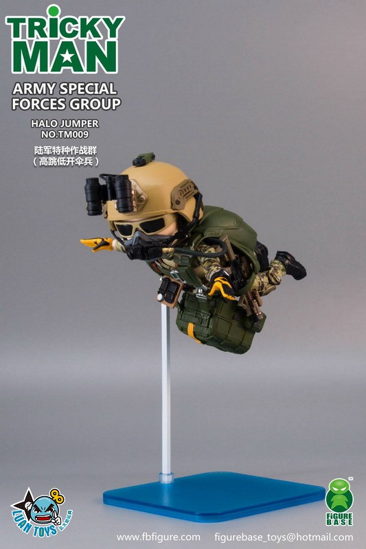 FIGURE BASE TM009 US ARMY SPECIAL FORCES GROUP HALO JUMPER 美國軍特種作戰群傘兵-08+