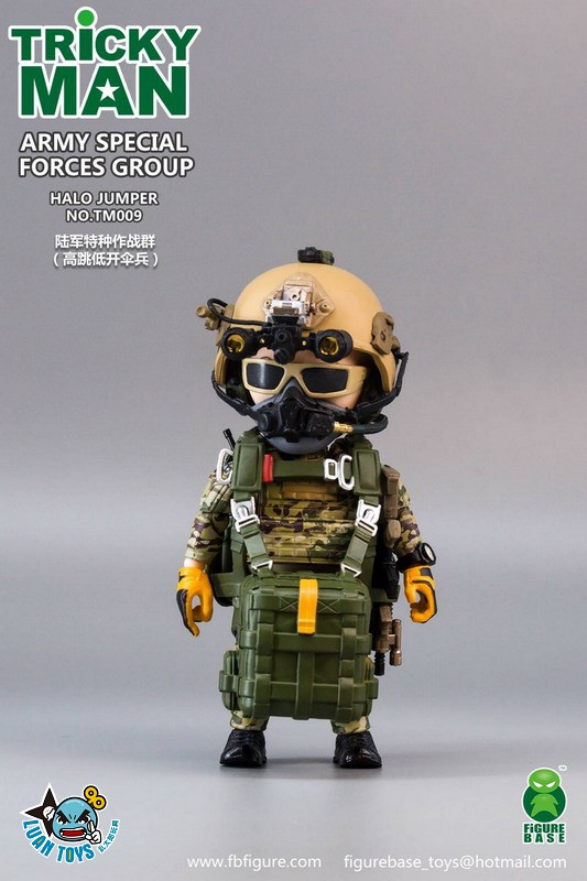 FIGURE BASE TM009 US ARMY SPECIAL FORCES GROUP HALO JUMPER 美國軍特種作戰群傘兵-09
