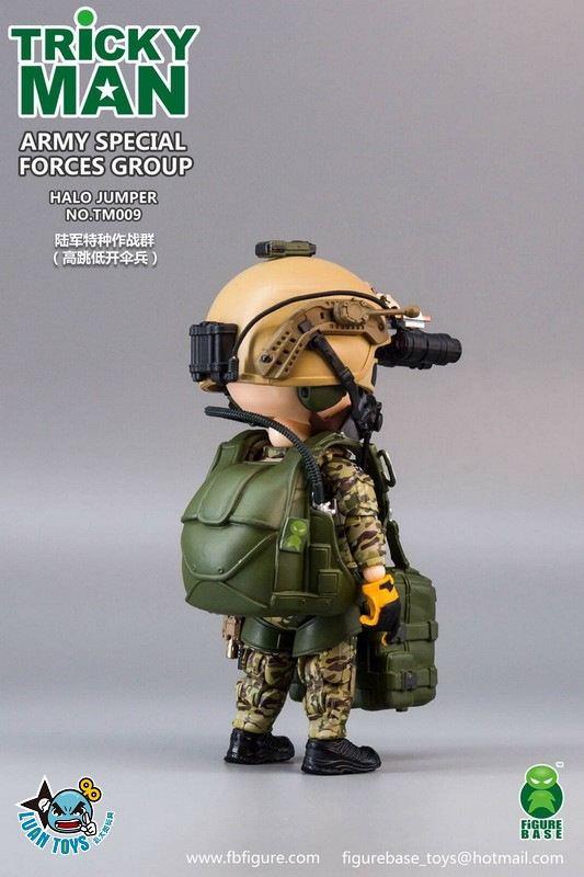 FIGURE BASE TM009 US ARMY SPECIAL FORCES GROUP HALO JUMPER 美國軍特種作戰群傘兵-10
