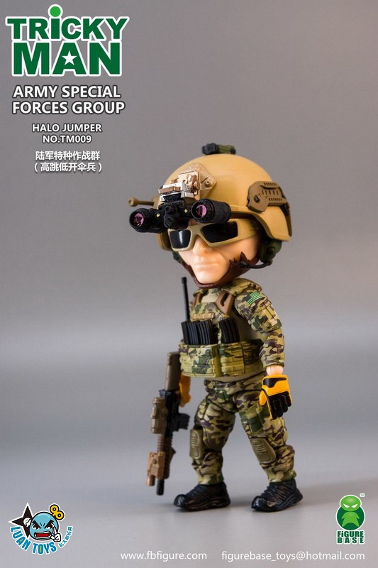 FIGURE BASE TM009 US ARMY SPECIAL FORCES GROUP HALO JUMPER 美國軍特種作戰群傘兵-11