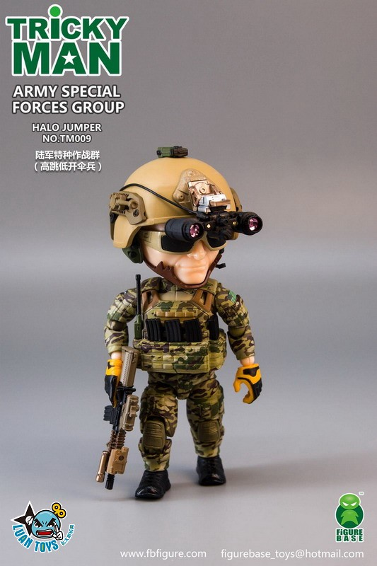 FIGURE BASE TM009 US ARMY SPECIAL FORCES GROUP HALO JUMPER 美國軍特種作戰群傘兵-12