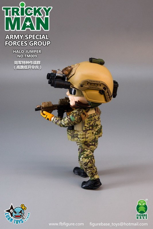 FIGURE BASE TM009 US ARMY SPECIAL FORCES GROUP HALO JUMPER 美國軍特種作戰群傘兵-13