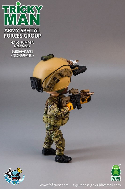 FIGURE BASE TM009 US ARMY SPECIAL FORCES GROUP HALO JUMPER 美國軍特種作戰群傘兵-14