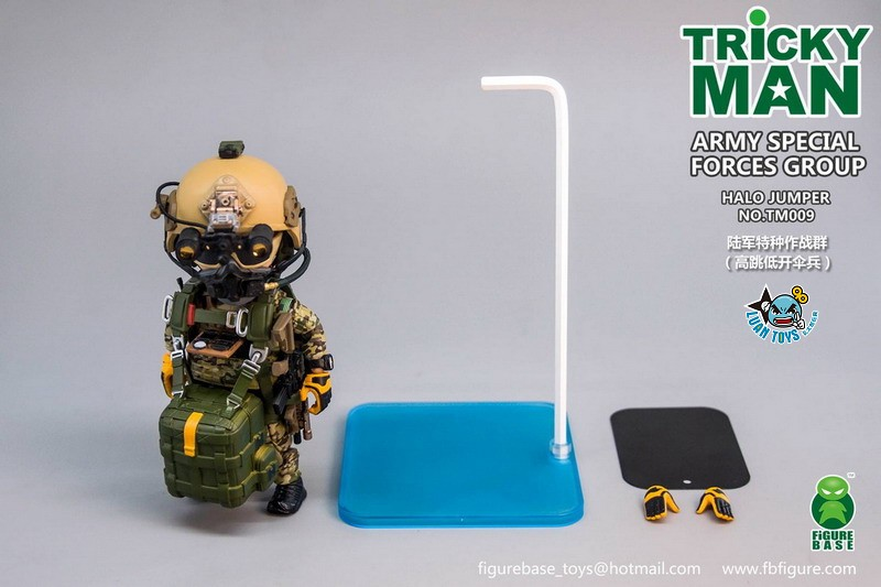 FIGURE BASE TM009 US ARMY SPECIAL FORCES GROUP HALO JUMPER 美國軍特種作戰群傘兵-16